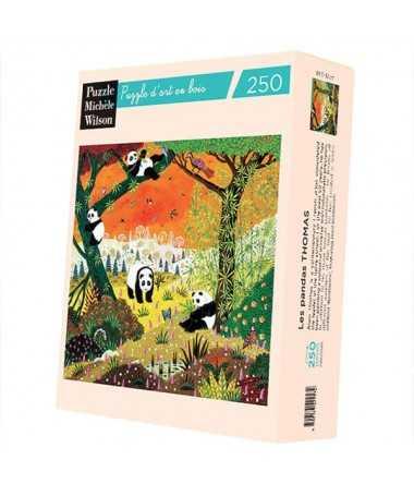 Puzzle en bois - Les pandas (250 pcs)
