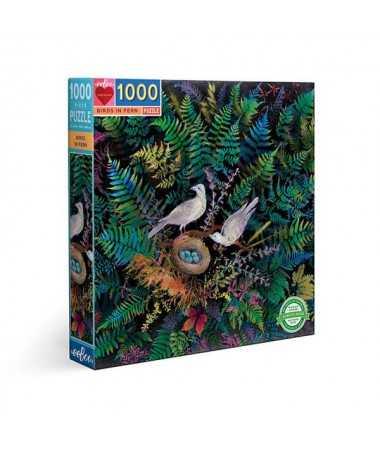 Puzzle - Birds in fern (1000 pcs)