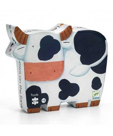 Puzzle - Les vaches à la ferme (24 pcs)