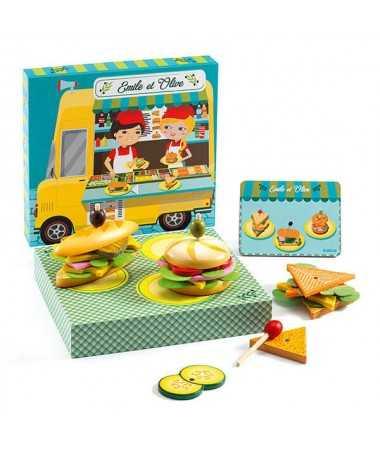 Emile & Olive- Préparer des sandwichs