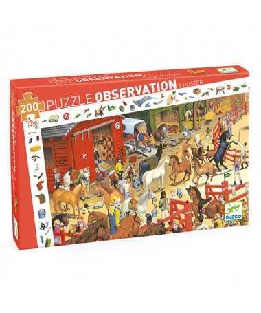 Puzzle observation - Équitation (200 pcs)