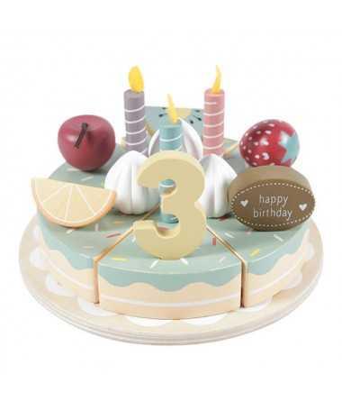 Gâteau d'anniversaire en bois - 26 pcs