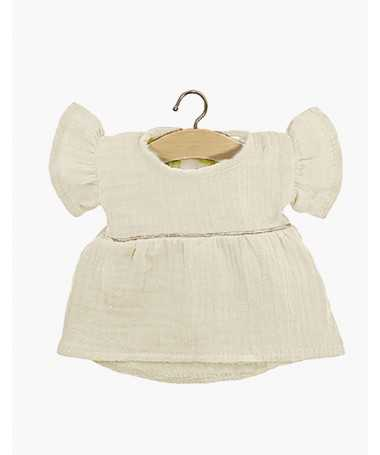 Robe Daisy en coton double gaze - Écru - Poupée Gordis