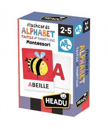 Flashcards Alphabet Tactile et Phonétique Montessori
