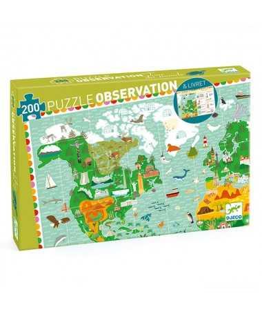 Puzzle observation - Tour du Monde + livret (200pcs)