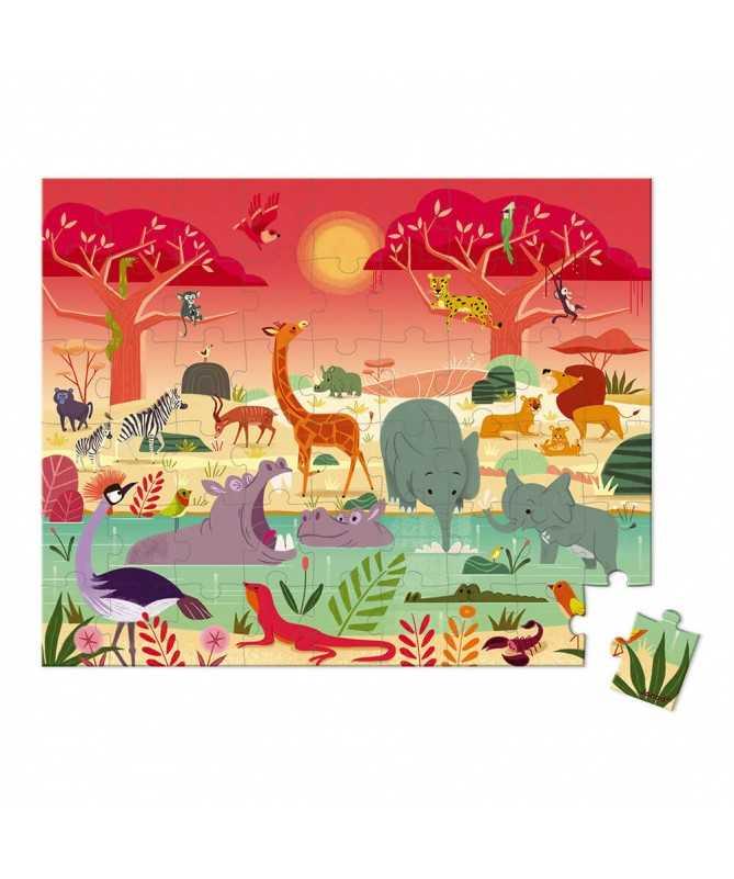 Puzzle Réserve animalière (54 pcs)