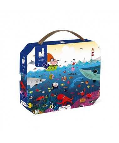 Puzzle - Le monde sous-marin (100 pcs)