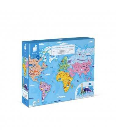 Puzzle éducatif géant - Curiosités du monde (350 pcs)