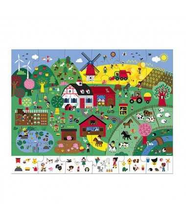 Puzzle d'observation - La ferme (24 pcs)