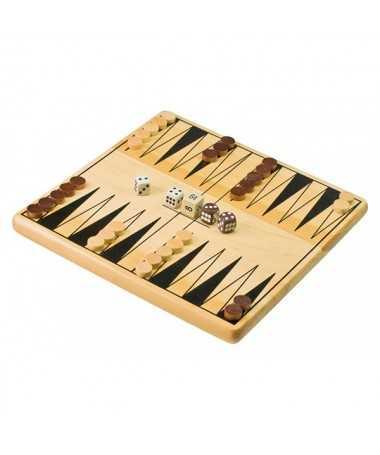 Coffret Backgammon en bois