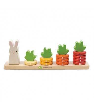 J'apprends à compter - Boulier en bois carottes