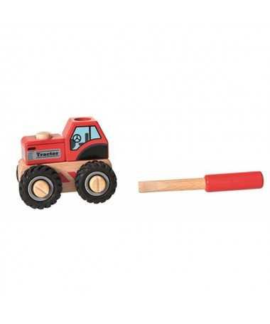 Tracteur en bois à visser