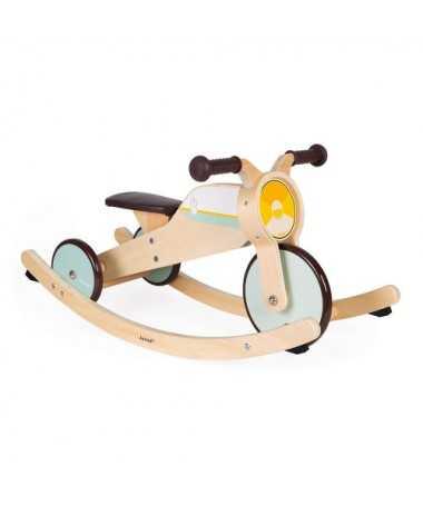 Tricycle 2-en-1 à bascule