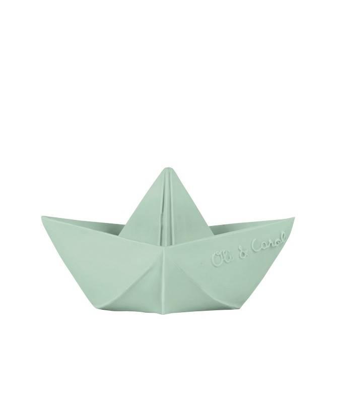 Jouet de bain Bateau Origami Menthe