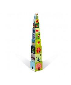 """Pyramide carrée """"Les 4 saisons"""""""