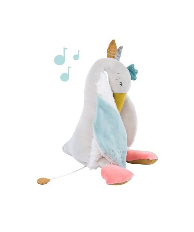 Boite à musique Peluche Olga oie