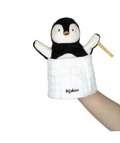 Kachoo - Marionnette cache-cache pingouin Gabin