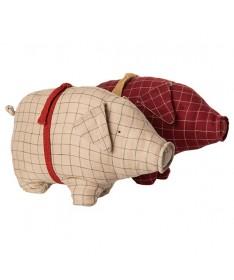 Peluche cochon rouge