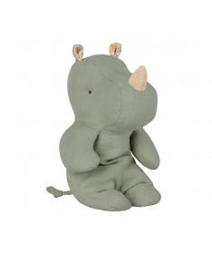 Safari friends, Petit Rhinocéros - Vert Vintage