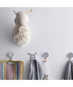 Décoration murale - Trophée en laine - Mouton