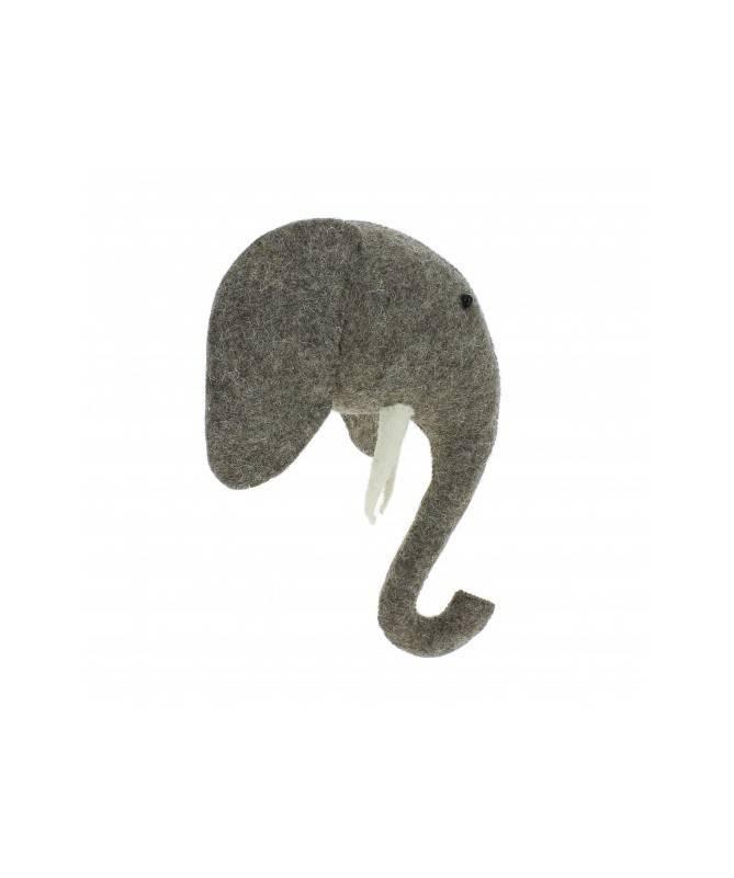 Trophée mini tête d'éléphant