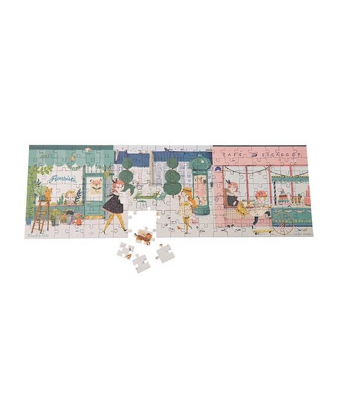 Puzzle dans la rue (140 pièces) Les Parisiennes