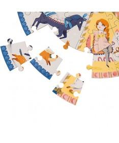 Puzzle le manège (45 pièces) Les Parisiennes