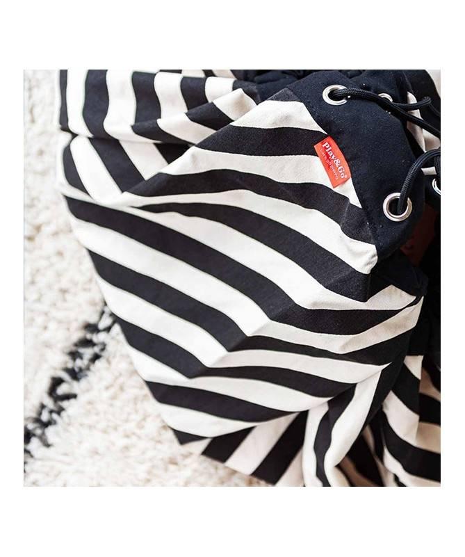 Tapis et sac de jeu Rayures noires