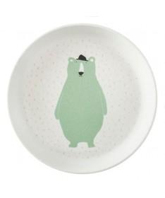 Assiette Bambou - Mr Polar Bear