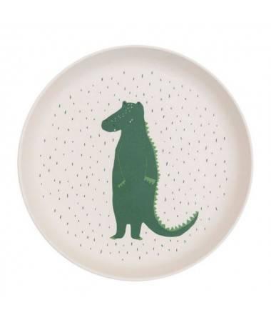 Assiette Bambou Mr Crocodile