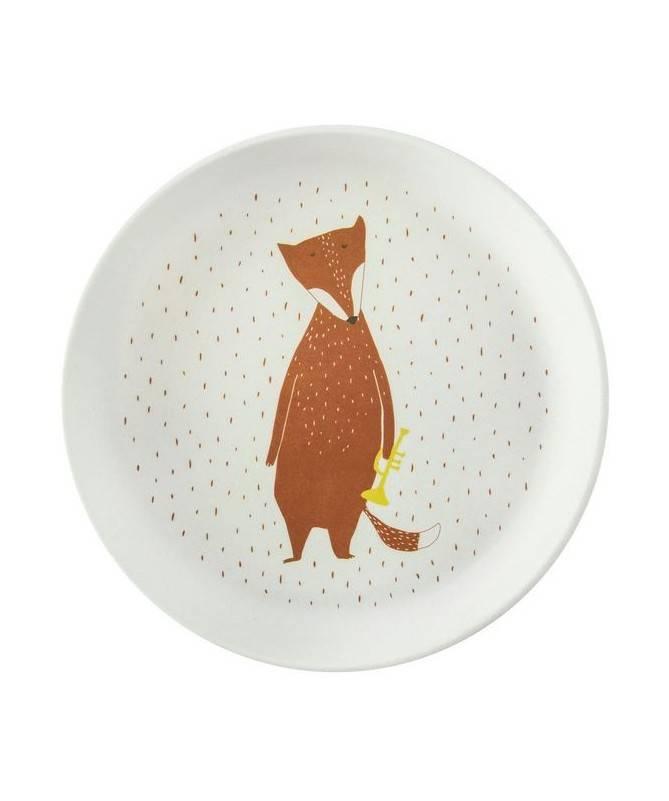 Assiette Bambou Mr Fox