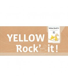 Yellow Rock'It ! Cheval à bascule