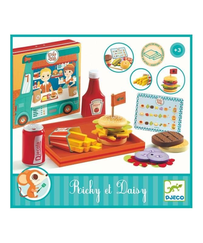 Ricky & Daisy - Préparer des burgers avec un menu