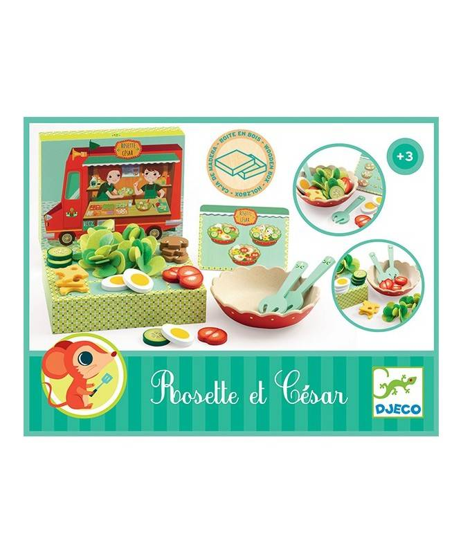 Rosette et César - Préparer des salades avec un menu