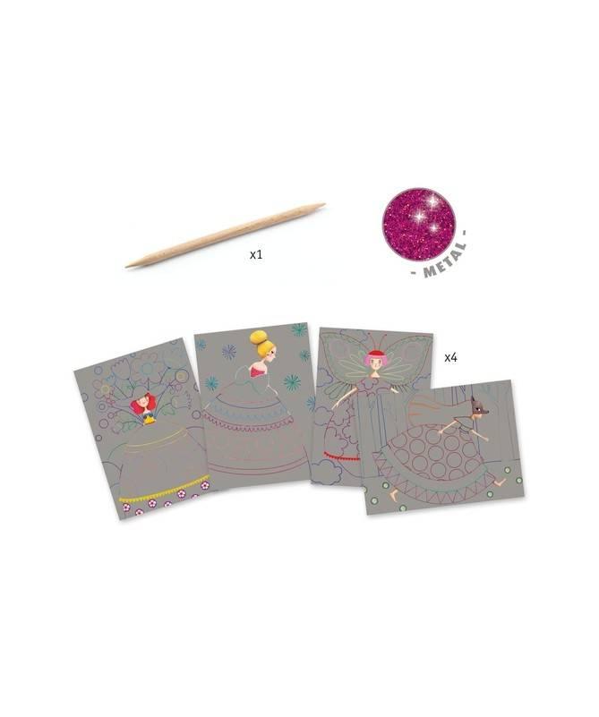Cartes à gratter - Le bal des coquettes