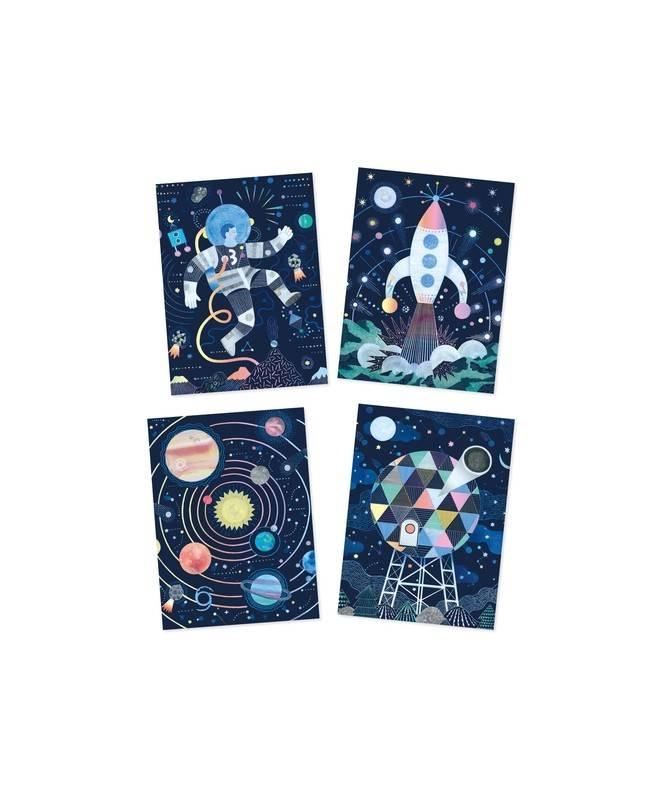 Cartes à gratter - Mission cosmique