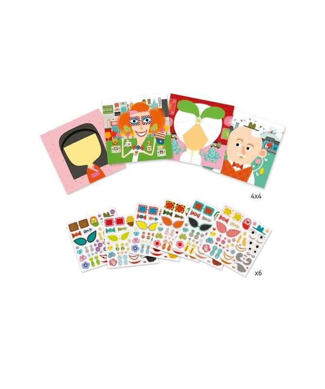 Créer avec des Stickers - Tous Différents