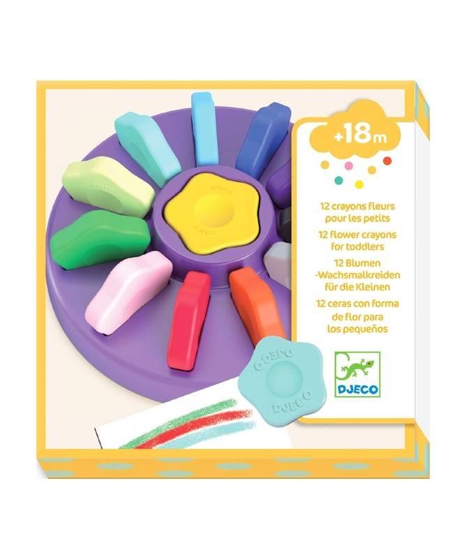 Crayons - 12 Crayons Fleurs pour les Petits