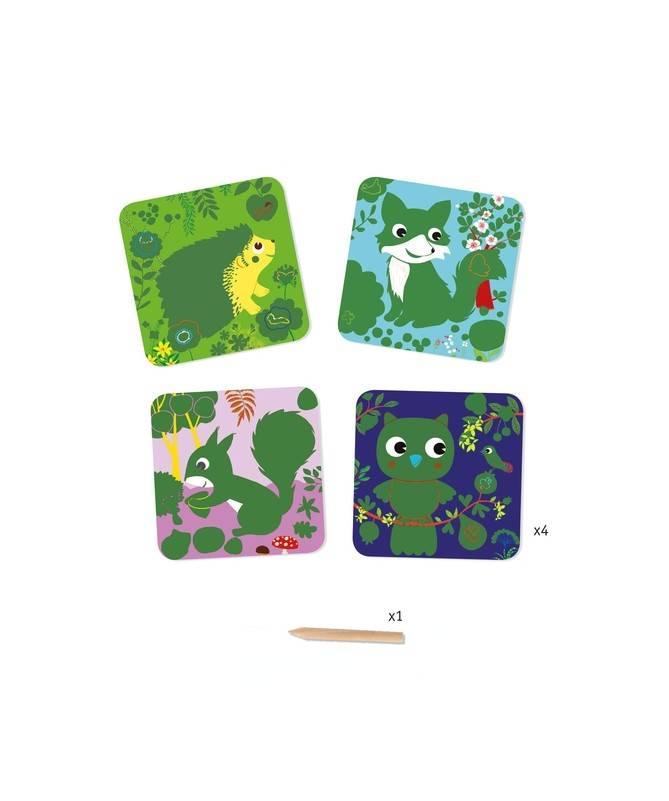 Cartes à gratter des petits - Petites bêtes