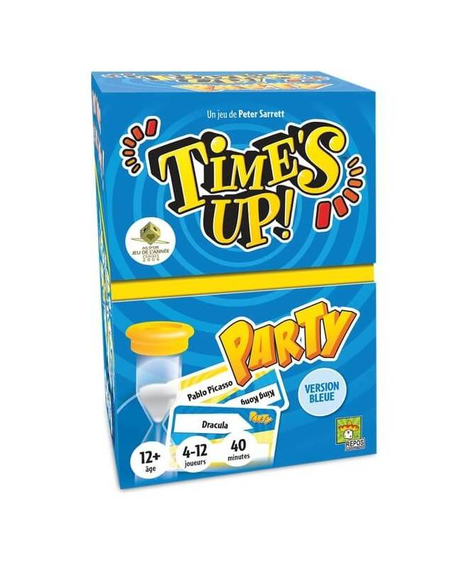 Time's Up Party bleu