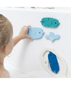 Quutopia - Puzzle de bain - Baleines