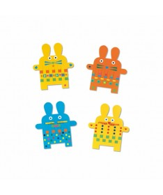 6 lapins à tisser - Stickers des petits