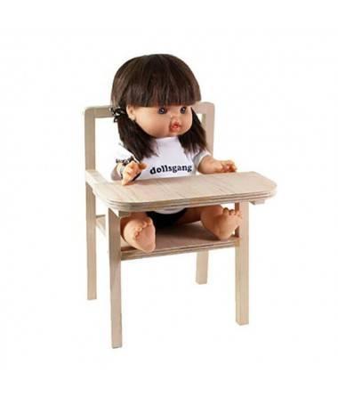 Petite chaise haute en bois - Poupée Gordis