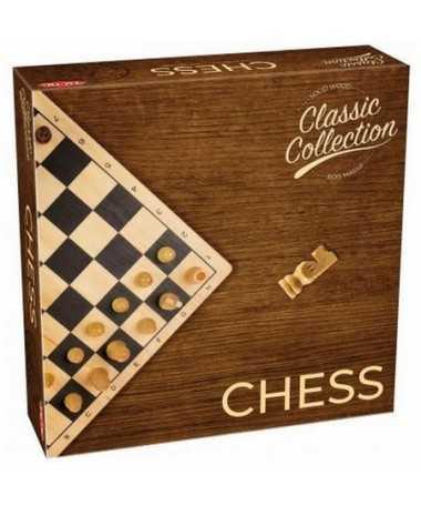 Coffret échecs en bois