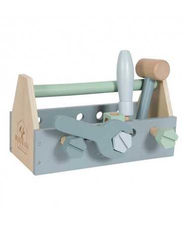 Boîte à outils en bois (20 pièces)