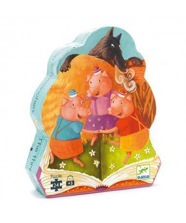 Puzzle - Les trois Petits cochons (24 pcs)