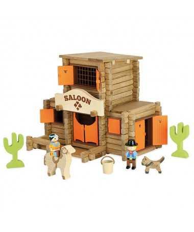 Far west Saloon en bois - 170 pièces