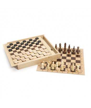 Jeu de dames et d'échecs