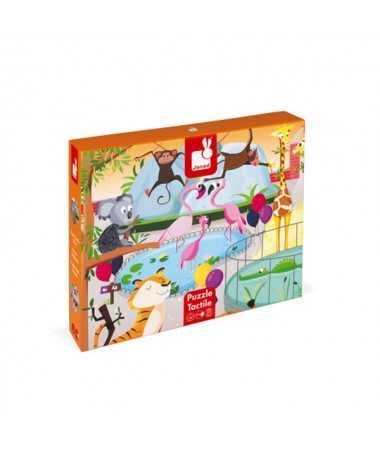 Puzzle tactile - Une journée au zoo (20 pcs)