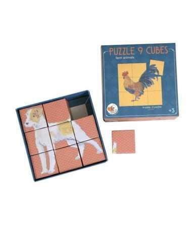 Cube puzzle (9 pcs)